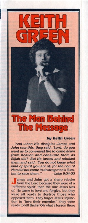 Keith Green Man Behind the Mes